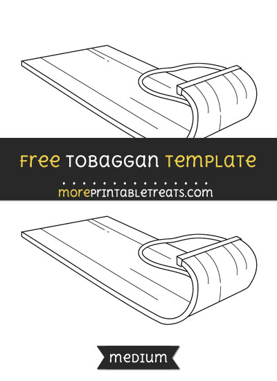 Free Tobaggan Template - Medium