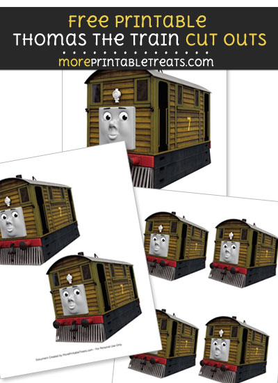 Free Toby the Tram Engine Cut Outs - Printable - Thomas the Train and Friends