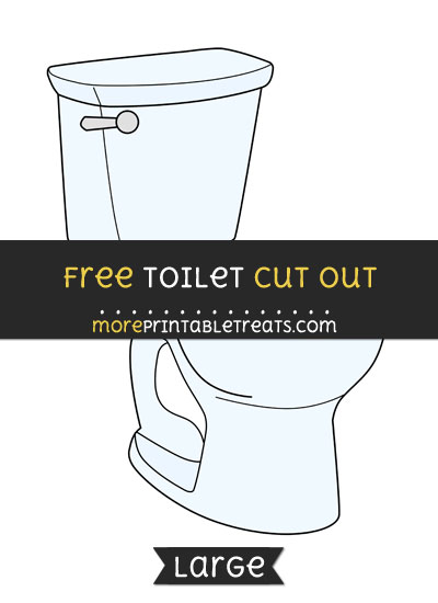 Free Toilet Cut Out - Large size printable