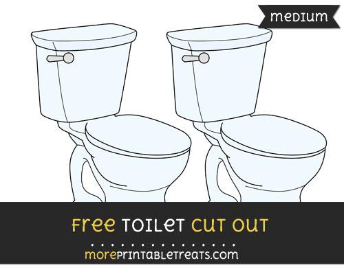 Free Toilet Cut Out - Medium Size Printable