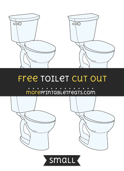 Free Toilet Cut Out - Small Size Printable