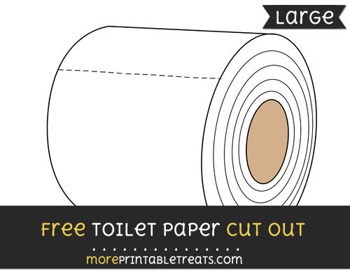 Free Toilet Paper Cut Out - Large size printable