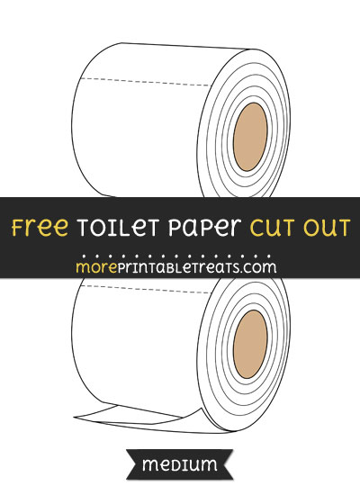 Free Toilet Paper Cut Out - Medium Size Printable