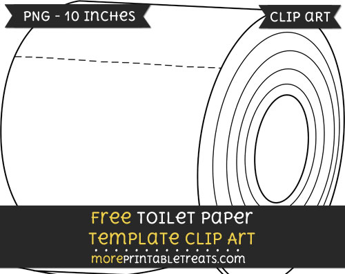 Free Toilet Paper Template - Clipart