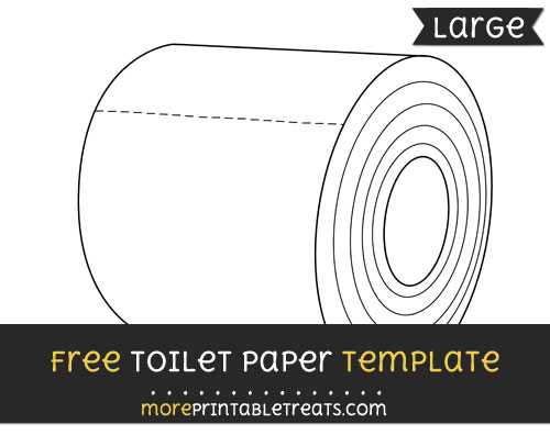 Free Toilet Paper Template - Large