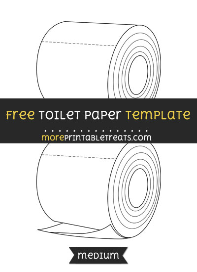 Free Toilet Paper Template - Medium