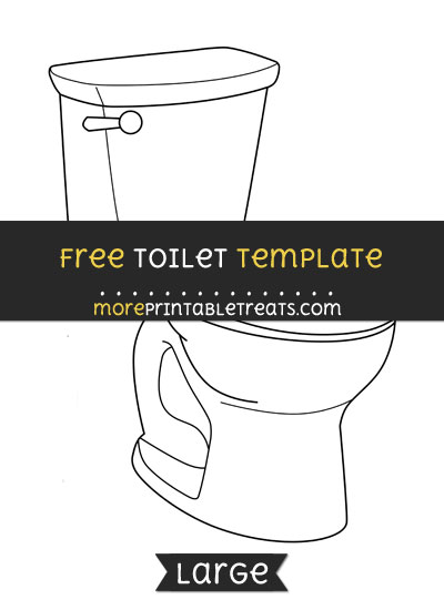 Free Toilet Template - Large