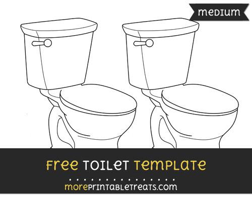 Free Toilet Template - Medium