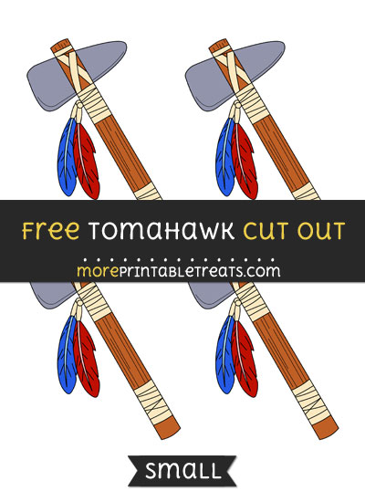 Free Tomahawk Cut Out - Small Size Printable