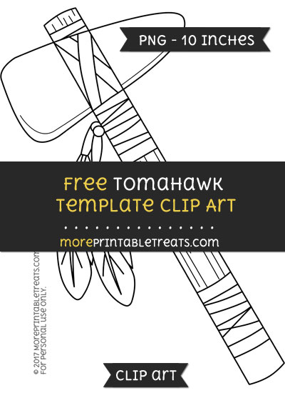 Free Tomahawk Template - Clipart