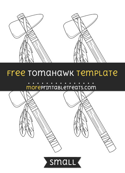 Free Tomahawk Template - Small