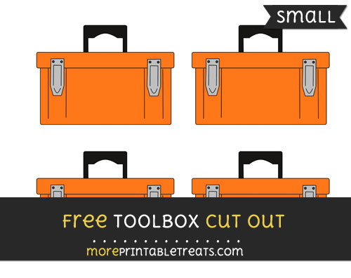Free Toolbox Cut Out - Small Size Printable
