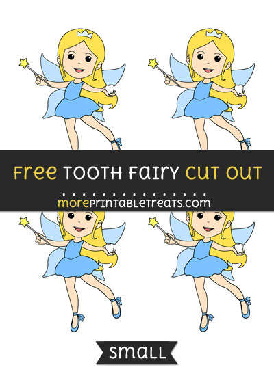 Free Tooth Fairy Cut Out - Small Size Printable
