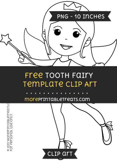 Free Tooth Fairy Template - Clipart