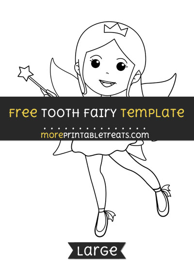 Free Tooth Fairy Template - Large