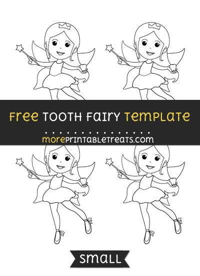 Free Tooth Fairy Template - Small