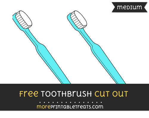 Free Toothbrush Cut Out - Medium Size Printable