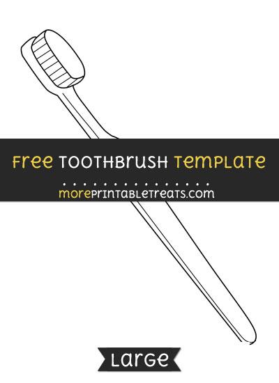 Free Toothbrush Template - Large