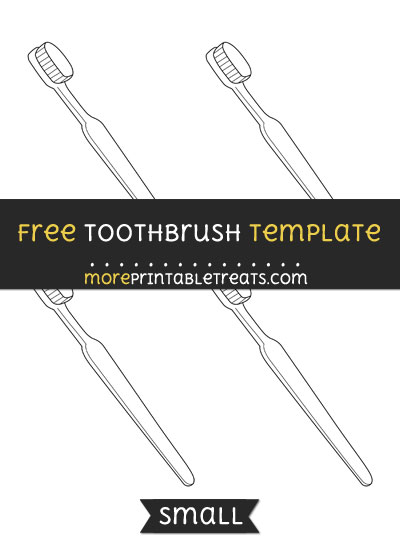 Free Toothbrush Template - Small