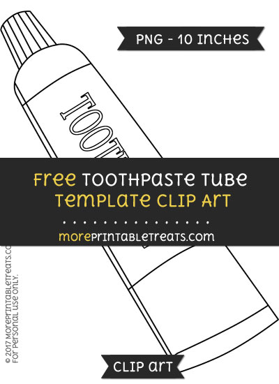 Free Toothpaste Tube Template - Clipart