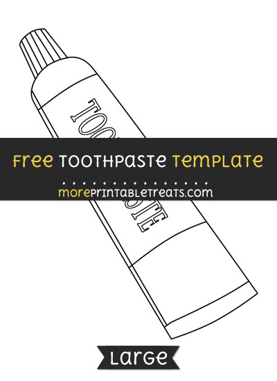 Free Toothpaste Tube Template - Large