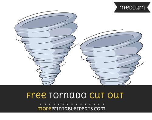 Free Tornado Cut Out - Medium Size Printable