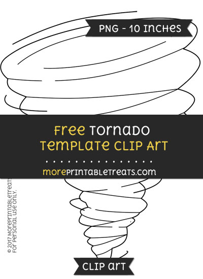 Free Tornado Template - Clipart