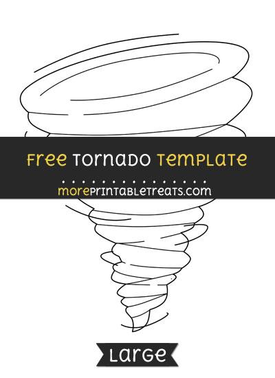 Free Tornado Template - Large