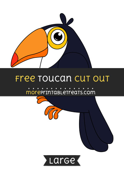 Free Toucan Cut Out - Large size printable