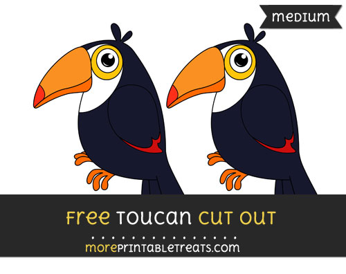 Free Toucan Cut Out - Medium Size Printable