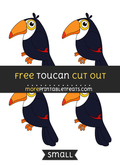 Free Toucan Cut Out - Small Size Printable