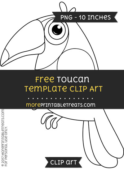 Free Toucan Template - Clipart