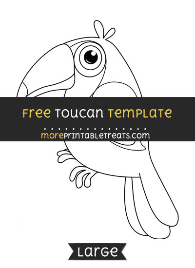 Free Toucan Template - Large