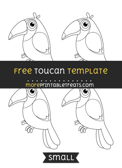 Free Toucan Template - Small