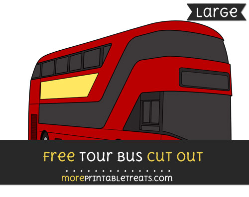 Free Tour Bus Cut Out - Large size printable