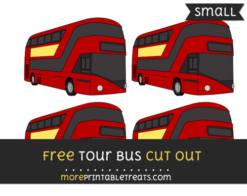 Free Tour Bus Cut Out - Small Size Printable