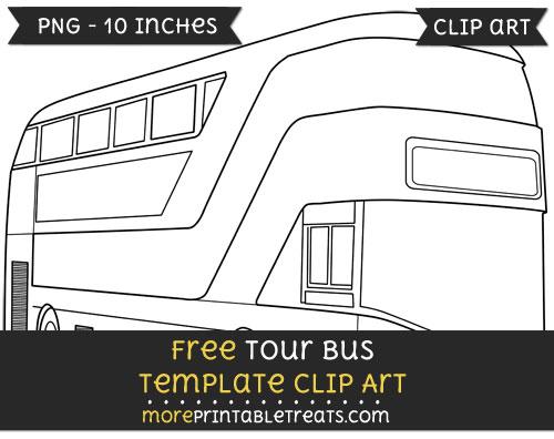 Free Tour Bus Template - Clipart
