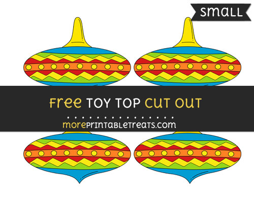 Free Toy Top Cut Out - Small Size Printable