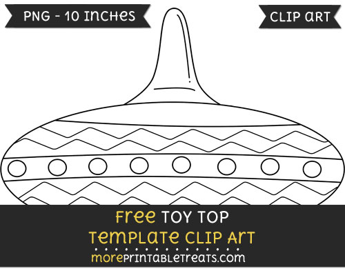 Free Toy Top Template - Clipart