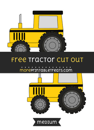 Free Tractor Cut Out - Medium Size Printable