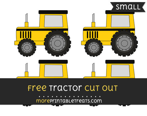 Free Tractor Cut Out - Small Size Printable