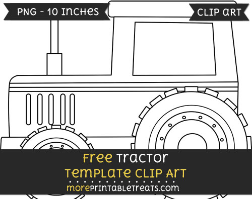 Free Tractor Template - Clipart