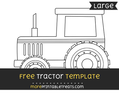 Free Tractor Template - Large