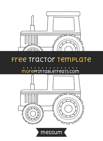 Free Tractor Template - Medium
