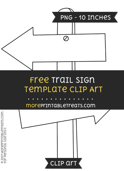 Free Trail Sign Template - Clipart