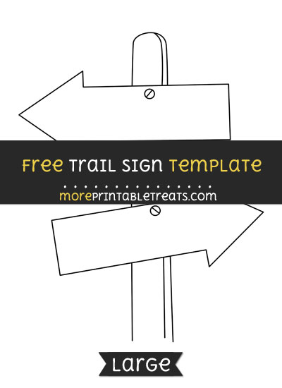 Free Trail Sign Template - Large