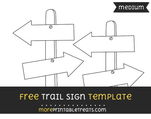 Free Trail Sign Template - Medium