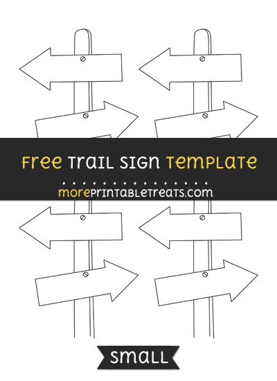 Free Trail Sign Template - Small