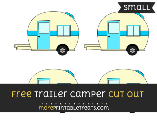 Free Trailer Camper Cut Out - Small Size Printable