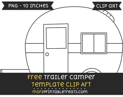 Free Trailer Camper Template - Clipart